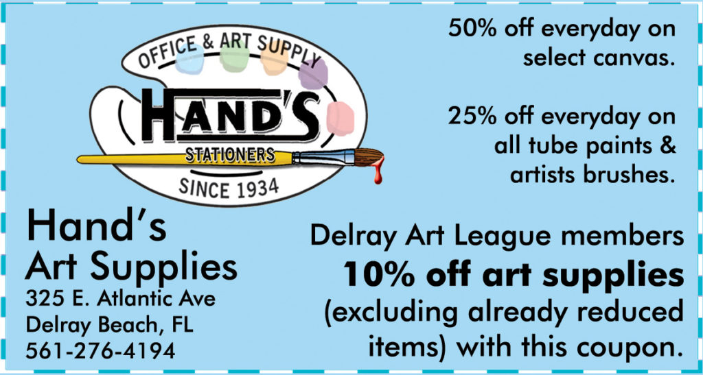 A Very Special Thanks To Our 2016 2017 Sponsor Hand S Art Supply In Downtown Delray Beach